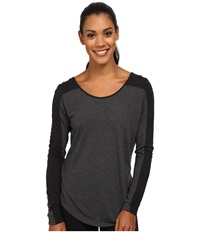 Asics Performance Run Relaxed Long Sleeve Black Heather Black Women's Workout