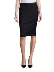 Escada Tweed And Jersey Pencil Skirt Black