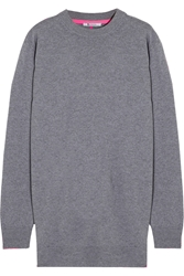 Alexander Wang Wool And Cashmere Blend Sweater Dress Gray