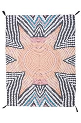 Mara Hoffman Starbasket Sarong In Abstract Black Orange