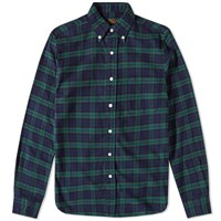 Beams Plus Button Down Flannel Check Shirt Multi