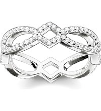 Thomas Sabo Eternity Of Love Sterling Silver And Pave Zirconia Infinity Ring