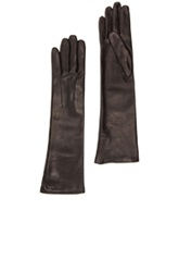 Lanvin Mid Length Leather Gloves In Black