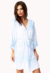 Forever 21 Tie Dye Robe Blue Mint