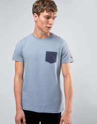 Tommy Hilfiger T Shirt With Contrast Pocket In Blue 08878A0267