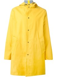Ami Alexandre Mattiussi Classic Hooded Raincoat Yellow And Orange