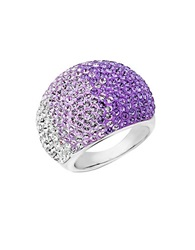 Lord And Taylor Sterling Silver Faded Tanzanite Colored Crystal Ring