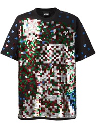 Ktz 'Beethoven' Pixel Sequin T Shirt Black