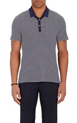 Ralph Lauren Purple Label Striped Polo Shirt Blue