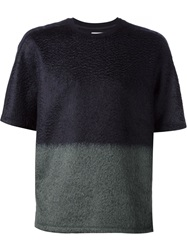 Wooyoungmi Dip Dye Short Sleeved Sweater Black