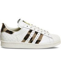 Adidas Superstar 80S Snake Embossed Leather Trainers White Snake Leopard