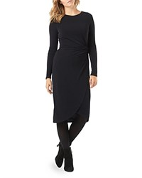 Phase Eight Side Ruched Dress Black