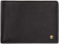 Versace Black Leather Bifold Wallet