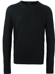 Z Zegna Long Sleeve Pullover Black