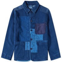 Blue Blue Japan Sashiko Hand Patchwork Jacket Blue