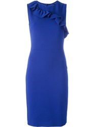 Boutique Moschino Ruffle Detail Dress Blue