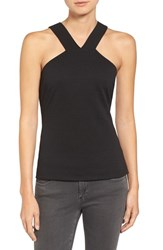 Trouve Women's Textured Strappy Back Tank