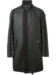 Tom Rebl Canvas Zip Coat Black