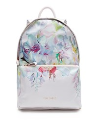 Ted Baker Freia Hanging Garden Nylon Backpack Baby Pink
