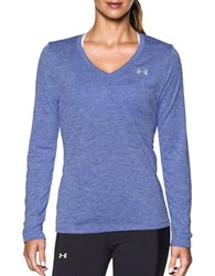 Under Armour Plunging V Neck Moisture Transport Tee Violet