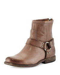 Phillipe Harness Leather Boot Gray Frye