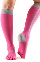 Women's Toesox 'Zoe' Knee High Compression Sport Socks Flush 4 Am
