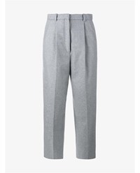 Acne Studios Milli Wool Cashmere Blend Cropped Trousers Grey