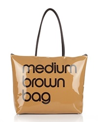 Bloomingdale's Zip Top Medium Brown Bag