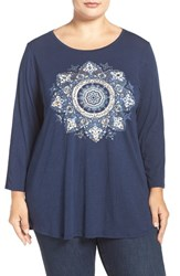 Lucky Brand Plus Size Women's 'Gold Mandala' Graphic Tee