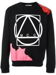 Mcq By Alexander Mcqueen Abstract Glyph Icon Print Sweatshirt Black