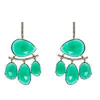 Nush Green Onyx And Diamond Bohemian Lux Earrings