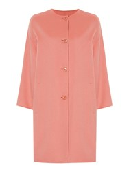 Max Mara Attica Button Up Double Faced Wool Lady Coat Rose