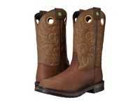 John Deere 11 Pull On Soft Toe Coffee Men's Boots Brown