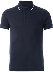 Z Zegna Piped Polo Shirt Blue