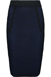 Line Taylor Perforated Stretch Knit Midi Skirt Royal Blue