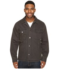 Woolrich Dorrington Shirt Jacket Matte Gray Men's Coat