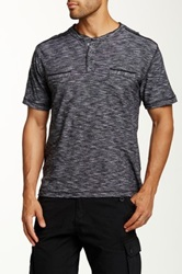 Truth Substance And Common Sense Snap Henley Tee Black