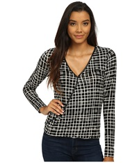 Tart Charlize Top Painted Grid Women's Clothing Black