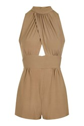Love Cross Over Playsuit By Brown
