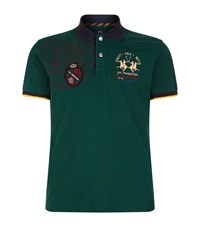 La Martina Pique Logo Polo Shirt Male Green