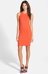 Leith Knee Cut Tank Dress Orange Fiesta