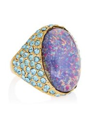 Kenneth Jay Lane Opal Centre Ring Blue