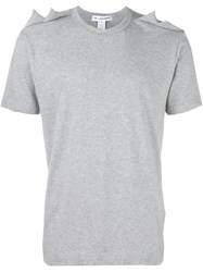 Comme Des Garcons Shirt Triangle Trim T Shirt Grey