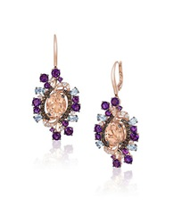 Levian Crazy Semi Precious Multi Stone And 14K Strawberry Gold Drop Earrings Multi Colored