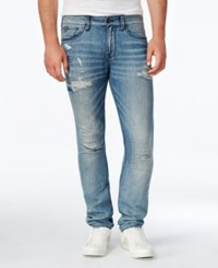 Guess Men's Slim Fit Selection Destroy Wash Jeans
