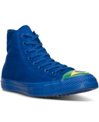 Converse Men's Chuck Taylor All Star Hi Flag Toe Cap Casual Sneakers From Finish Line Blue Green Aurora Yellow