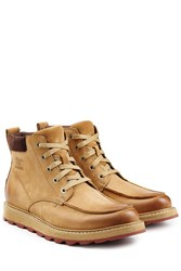 Sorel Leather Ankle Boots Camel