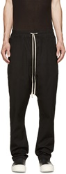 Rick Owens Black Drawstring Lounge Pants