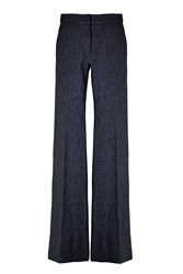 Tibi Tropical Wool Flared Pants