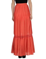 Class Roberto Cavalli Long Skirts Coral